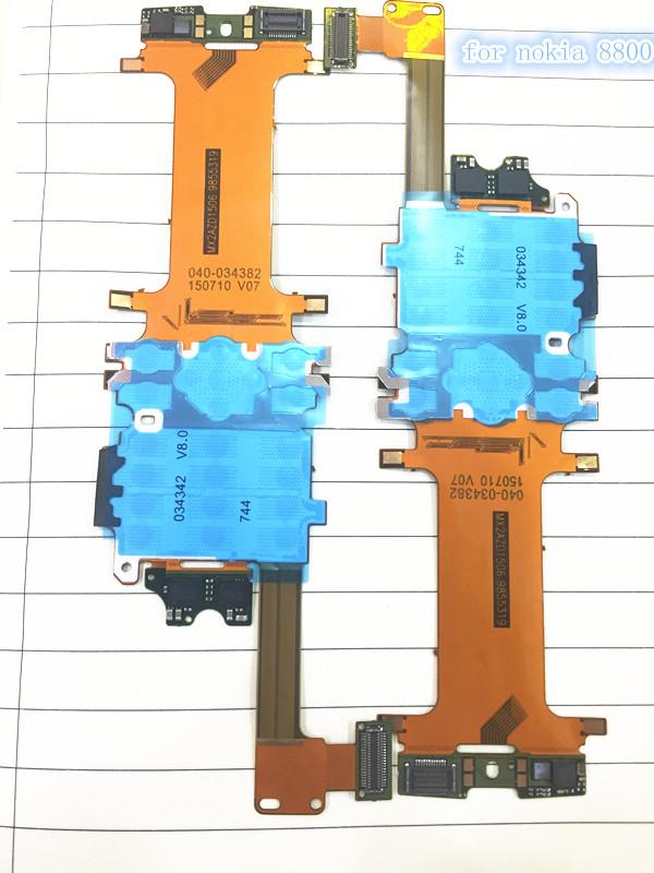 wey 100% Original Slide Slider Keypad board LCD Main Flex Ribbon Cable for Nokia 8800 8800A 8801 Arte free shipping