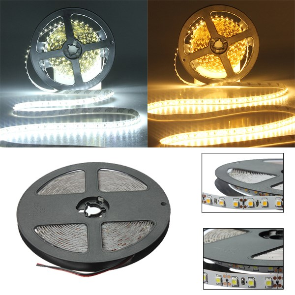 Big Promotion 5M 600 LED 3528 SMD Flexible Strip Tape Light Non-waterproof Warm White Pure White DC12V<br><br>Aliexpress