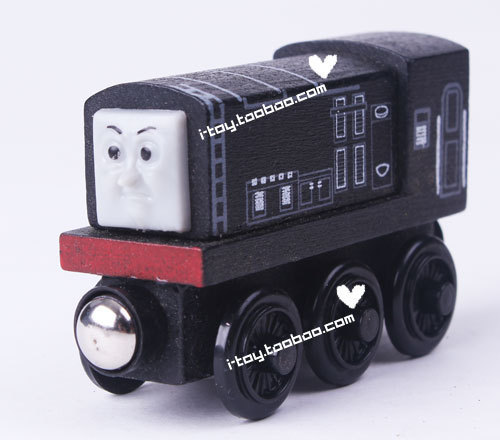 Wood THOMAS Trains toy wooden magnetic log inertia car desoarr/ Diesel 9CM/ 50G(China (Mainland))