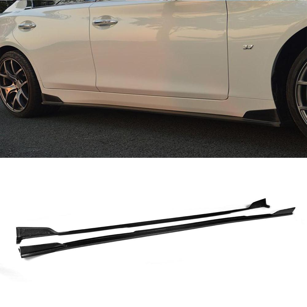 Z-ART Q50 car-styling carbon fiber auto Car Side Skirts side lip kits For infiniti Q50 2014UP high-quality(China (Mainland))
