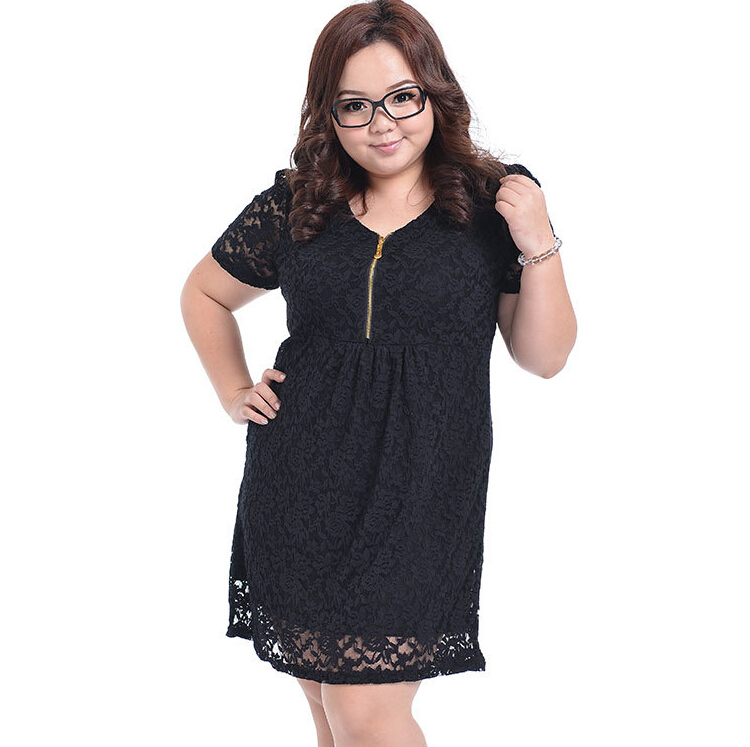 Plus Size Lace Women Vestidos Dresses 4XL Lady Dress Big Large Size Female Clothing 3XL Loose Fat Clothes Vestido for Overweight(China (Mainland))