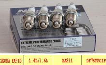 Platinum iridium spark plugs for skoda 2013 rapid engine       car spark plug fit for EA211 engine ignition