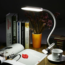 New Adjustable Eye Protection USB LED Clip Lamp LED Flexible Table Light Dimmable LED Desk Light with Touch Sensor Reading Lamp(China (Mainland))