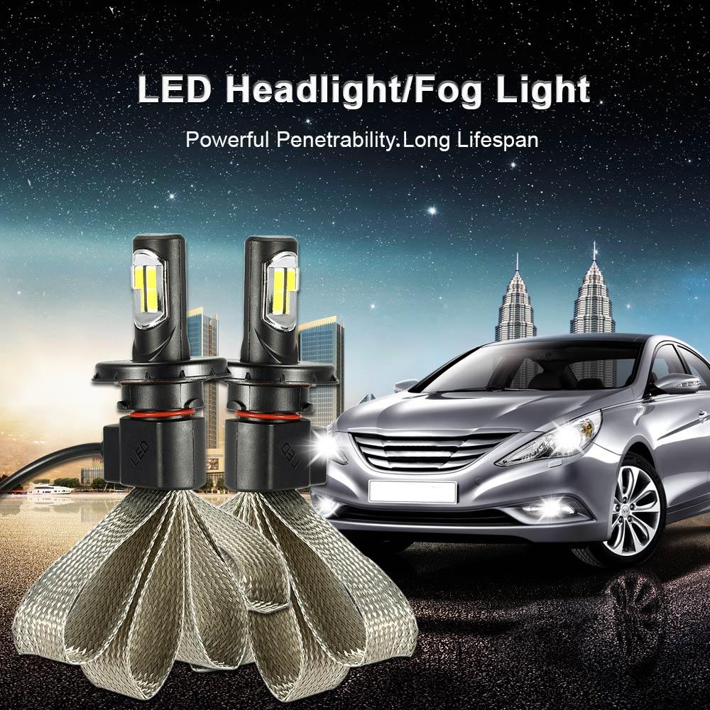 KKmoon Pair 36W 4000LM H1 H3 H4 H7 H11 9004 9005 9006 880/881 COB Chip Car LED Headlight Fog Light 12V 24V 6000K White Optional(China (Mainland))