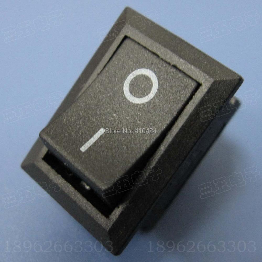 Кулисный переключатель NEW AC 6A/250 10 /125V /2 DIY Rocker Switch