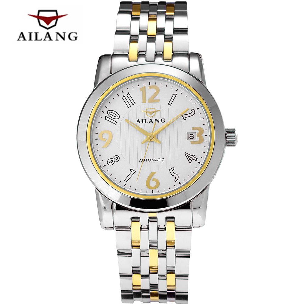 2016 Hot Mens Automatic Mechanical Watch Luxury Top brand AILANG Watches Men Waterproof Full steel Business Wrist watches<br><br>Aliexpress
