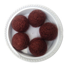 Wholesale 200PCS/Lot 20MM Dark Brown/Coffee Wool Felt Ball Handmade DIY Curtain Decoration Ball Woven Balls for Rug Home Decor(China (Mainland))