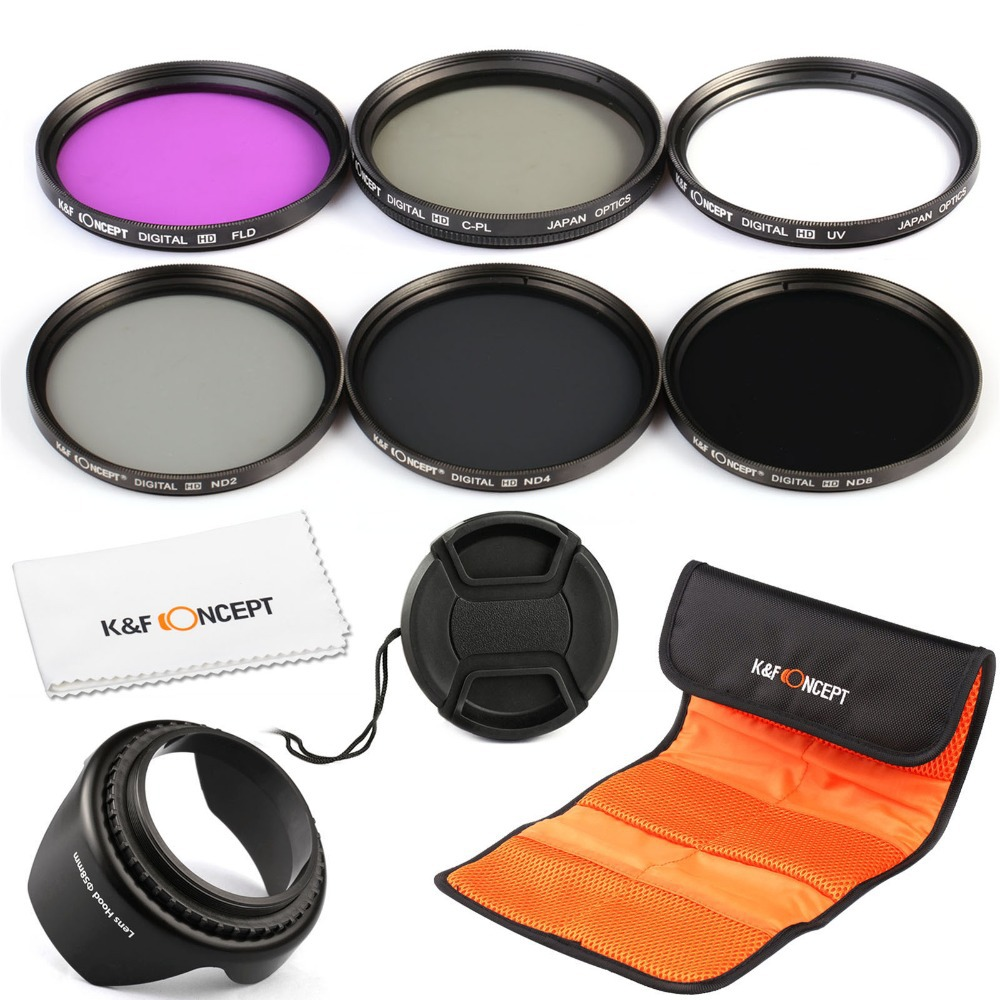 52mm UV CPL FLD ND2 ND4 ND8 ND Lens Filter Kit for Nikon D7100 D7000 D5200 D5100 D5000 D3300 D3200 D3100 D3000 DSLR Cameras(China (Mainland))