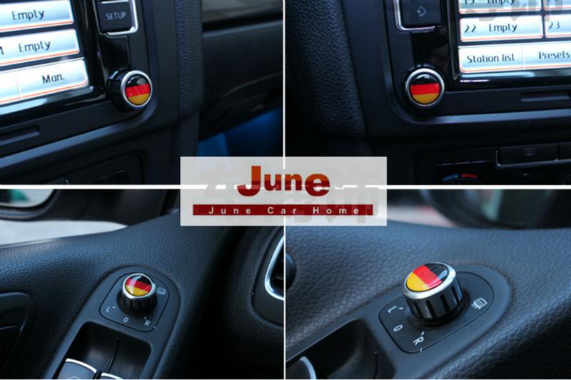 German Flag Stickers For Volkswagen RCD510 Knob, VW Golf Rear Mirror knob, Air Condition Knob. Set of 6pcs(China (Mainland))