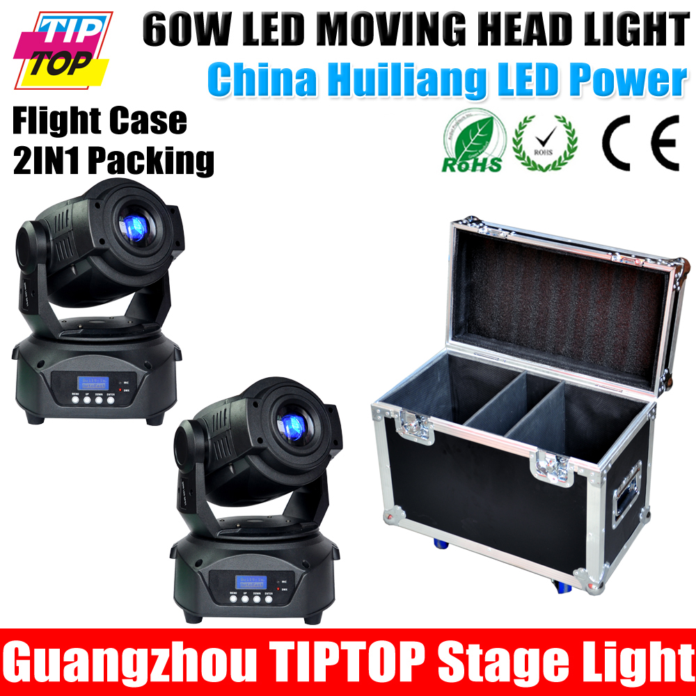 Flight Case 2IN1+2Xlot 60W Led Moving Head Gobo Light 14 Channel China Huiliang Led stage lighting Disco light led party light(China (Mainland))
