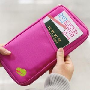 New Women Men Passport Credit Card ID Card Cash Holder Organizer Bag Wallet Good Trip(China (Mainland))