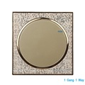 Luxury Champagne Gold Wall Switch 1 Gang 1 Way Single Control Light Switch Round Button Simple