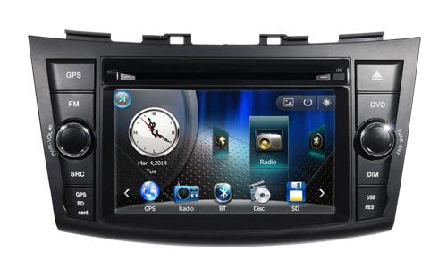 Car DVD Player GPS Navigation Central Multimedia for Suzuki Swift 2011 2012 2013 2014 2015 Ipod Free Shipping map RDS Raido(China (Mainland))