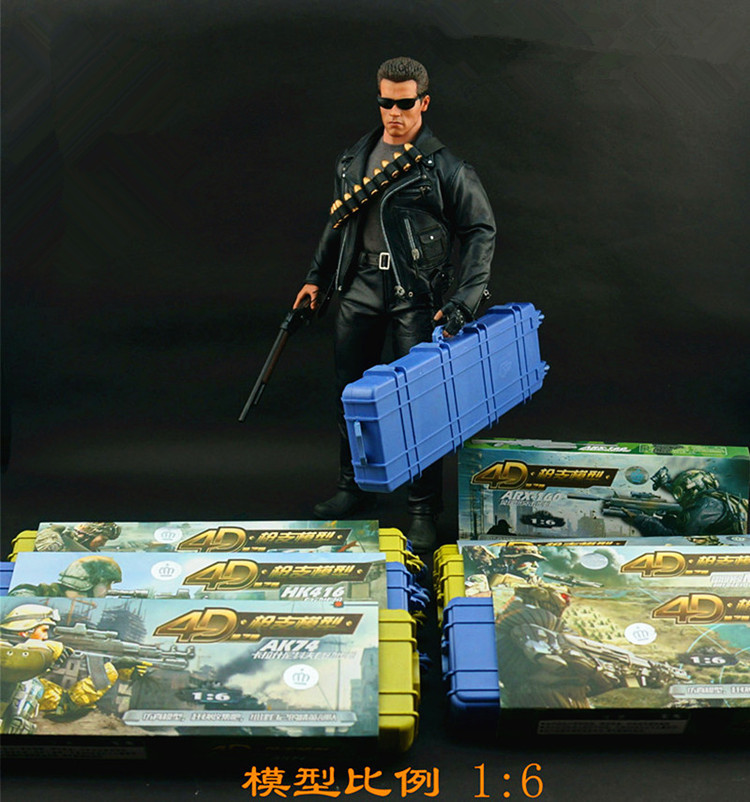 8pcs/Set Different Style 1/6 Scale 4D Gun Military Plastic Carrying Case Assembly Model Toys Building Kits - Professional RC Toy store