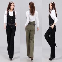Jumpsuit 2013 spring bib pants jumpsuit female casual wide leg pants trousers formal straight pants(China (Mainland))