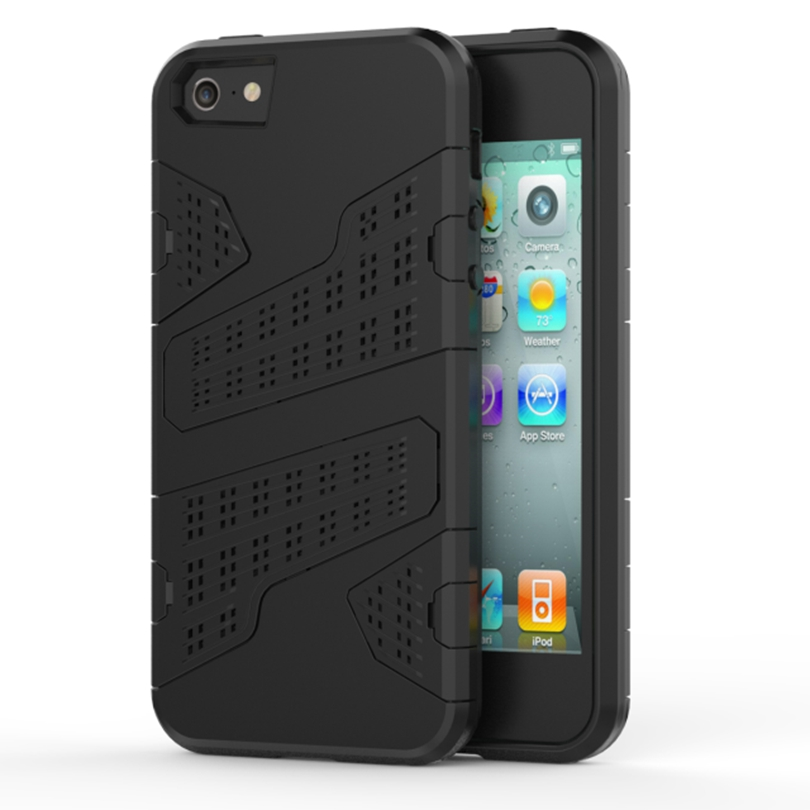 5S 6 6S 7 Plus TPU + PC Heat Radiation Function Dual Armor Ultra Thin Net Design Mesh Case For iPhone 5 5S SE 5C Cover Cases(China (Mainland))