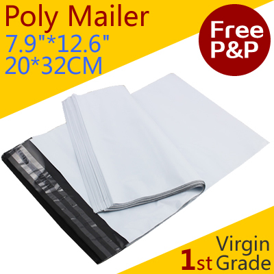 [Virgin Grade] 20*32 cm - 7.9*12.6 inch, Poly Mailing Bag, New Plastic Posting Express Envelope, Premium Quality- free shipping(China (Mainland))