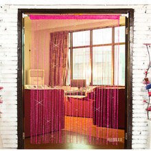 2015 High-end Flash Silver Wire Curtain 0.95 * 1.95 Meters with Silver Decorative Partition Encryption Flat Living Room Decor(China (Mainland))