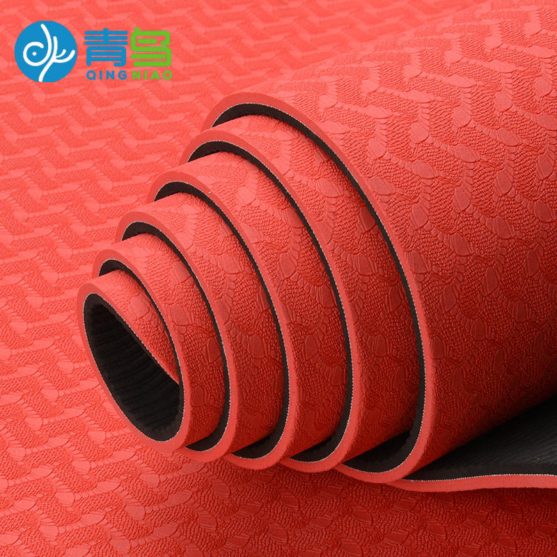 The bird widened TPE yoga mat [first] yoga mat oubiao thickening odor slip more fitness blanket<br><br>Aliexpress