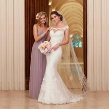 Buy 2017 Wedding Gowns Vestido De Novia Lace Wedding Dress Court Train Appliques Mermaid Wedding Dresses Elegant Bride Dresses for $79.57 in AliExpress store