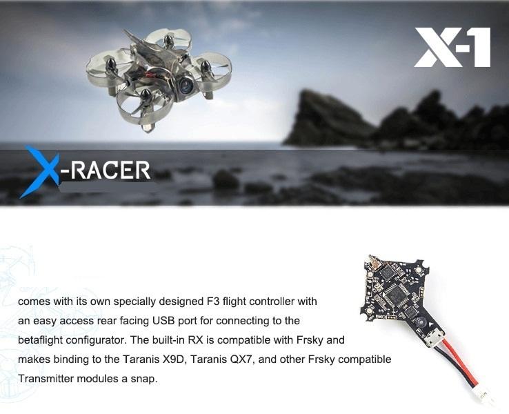 X Racer 1 V2 БНФ с двух батарей Agile безопасный удовольствие ультра микро FPV drone 3