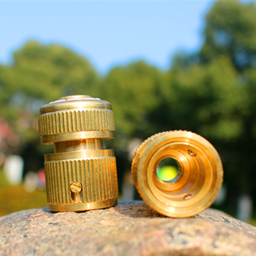 1/2inch Brass Quick Coupling Connector Without Waterstop Tap Connector For Garden Irrigation OHA1313(China (Mainland))
