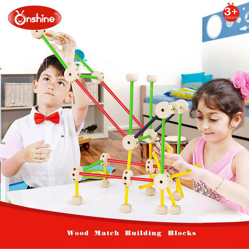 Oshine wood block solid combination of new construction of wooden building blocks of childrens toys 3 years old<br><br>Aliexpress