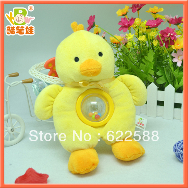 Plush baby teether toy plush animal chicken toy plush stuffed hanging toy