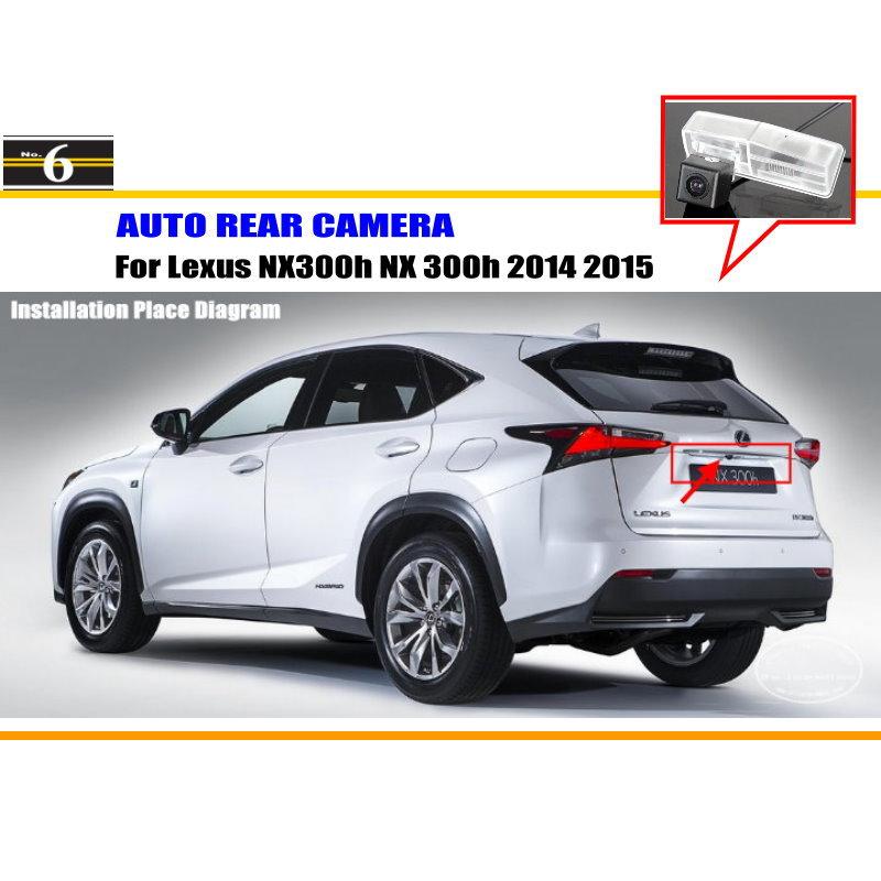 Car Rear View Camera For Lexus NX300h NX 300h 2014 2015 / Reverse Camera / HD CCD RCA NTST PAL / License Plate Light OEM(China (Mainland))