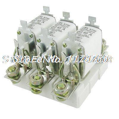 120kA/500V 50kA/660V 63A Ceramic Fuse Link NT00 w 3P Base<br><br>Aliexpress