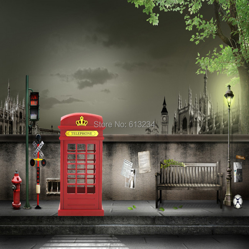 Free Shipping 8 Pieces Classical London Telephone Booth Designed USB Rechargeable LED Night Light(China (Mainland))