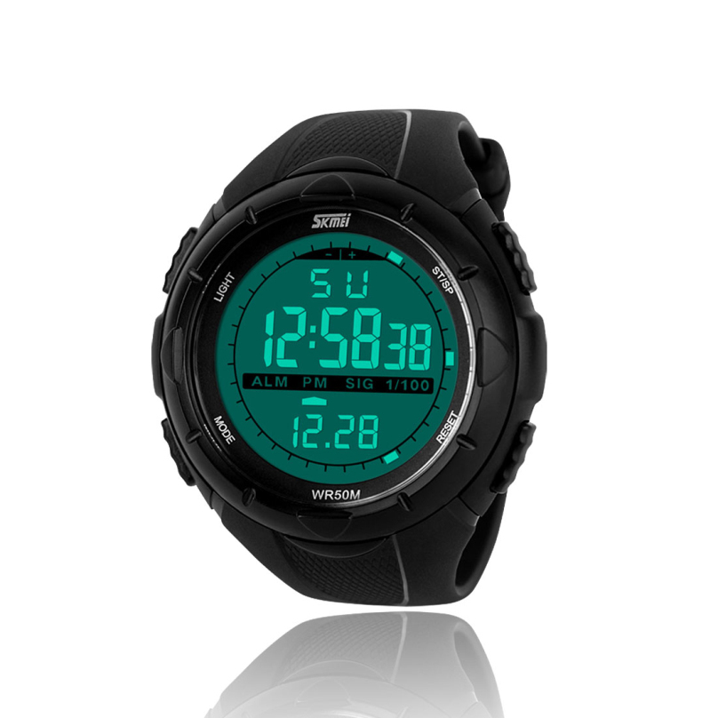 Высокое качество дизайн черные мужчины из светодиодов цифровой военные часы