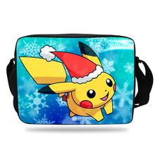 Cute Cartoon Pikachu School Messenger Bag For Kids Game pokemon Shoulder Bag For Children Boys Girls(China (Mainland))