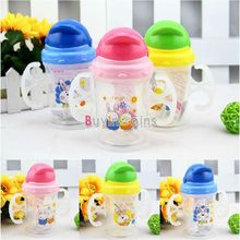 Baby Kids Straw Cup Drinking Bottle Sippy Cups With handles Cute Design US AS #60454 (Chi