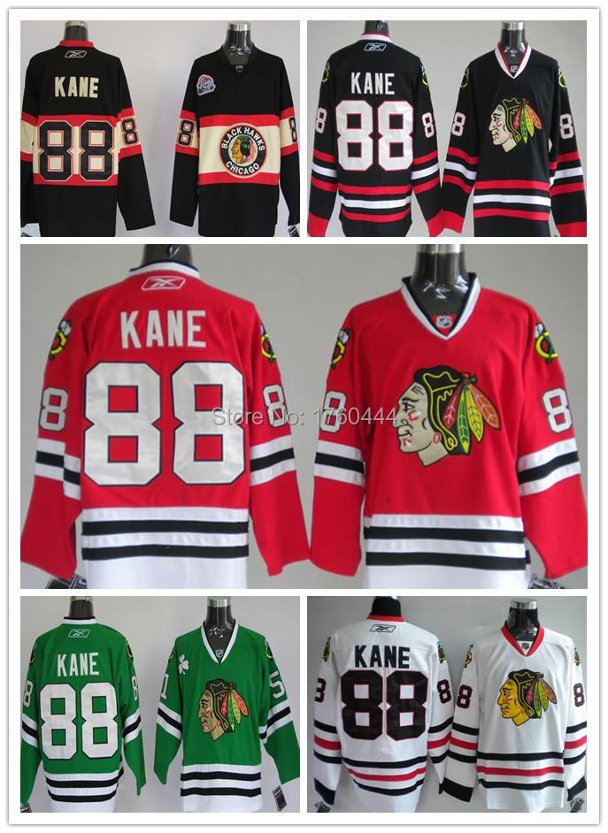 2014 Wholesale Classic Chicago black hawk Ice hockey stadium jersey #88 Patrick Kane jersey Embroidery Logos Jersey Size:M-XXXL(China (Mainland))