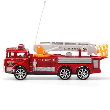 RC fire truck 2CH  remote vehicle motor-driven Fire engine Fire service lifts Salvation scaling ladder with original box(China (Mainland))