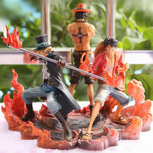 One Piece Figure Ace Luffy Sabo Collectible Action Figure Japanese Anime Figure PVC Cartoon Figurine One Piece Toys Juguetes
