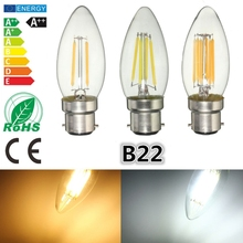 Buy Dimmable B22 C35 2W 4W 6W 220V LED COB Energy Saving Retro Vintage Edison Candle Filament Bulb Lamp Light Pure Warm White for $2.94 in AliExpress store