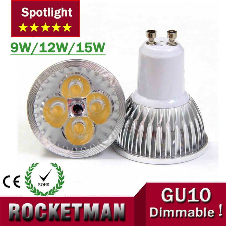 GU10 4x3W 12W 15w 9w Dimmable/Non-Dimmable led Light Lamp Bulb Downlight Spotlight Led FREE SHIPPING(China (Mainland))
