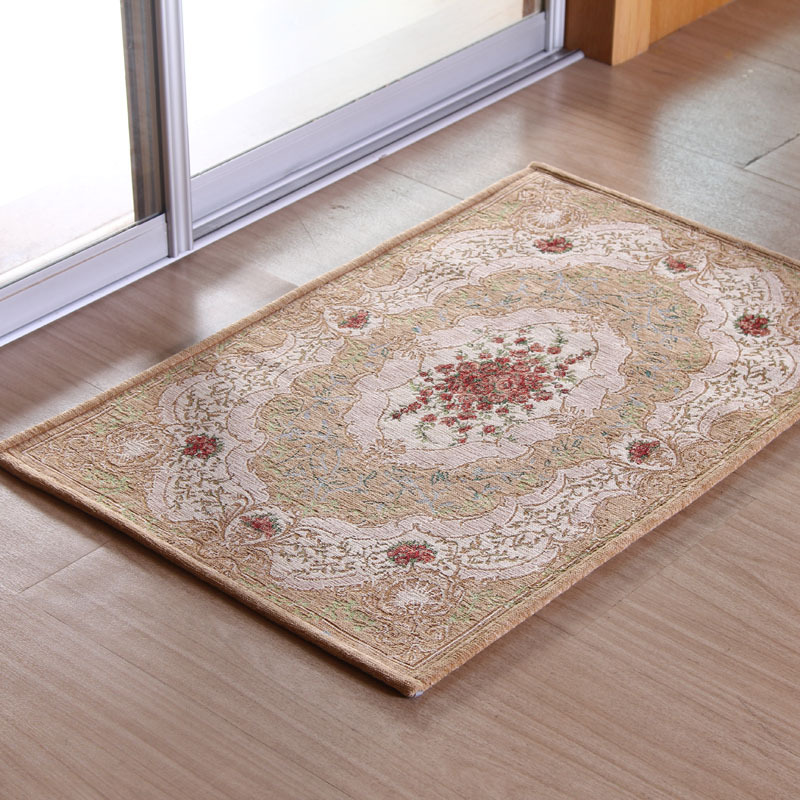 Buy Modern Continental Pastoral Style Carpet Floor Mats Embroidered Jacquard