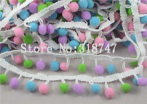 Гаджет  10mm  Pom Pom Trim Ball Fringe Ribbon DIY Sewing Accessory  Lace 1yard/lot 17010087(10HS1y) None Дом и Сад