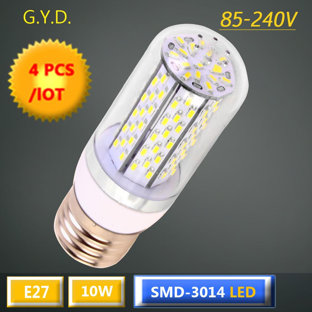 4X E27 LED Light Bulb 10W E27 led corn LED Spot Light Bulb Lamp in crystal Lighting lamp E27 LED corn Spotlight AC85-240V(China (Mainland))