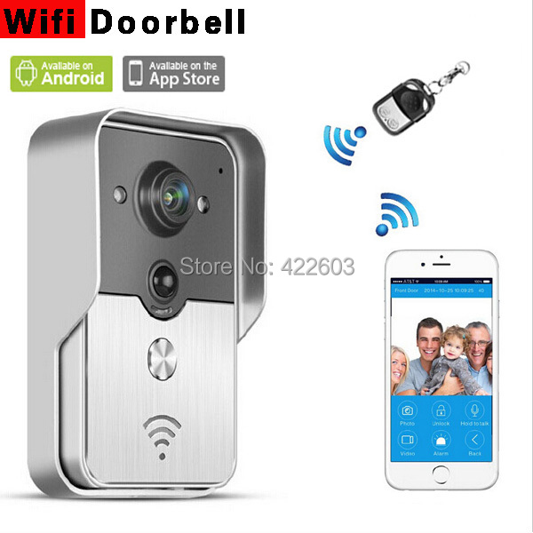 New Wifi video door phone doorbell Wireless Intercom Support IOS Android for iPad Smart Phone Tablet Free shipping Russia(China (Mainland))