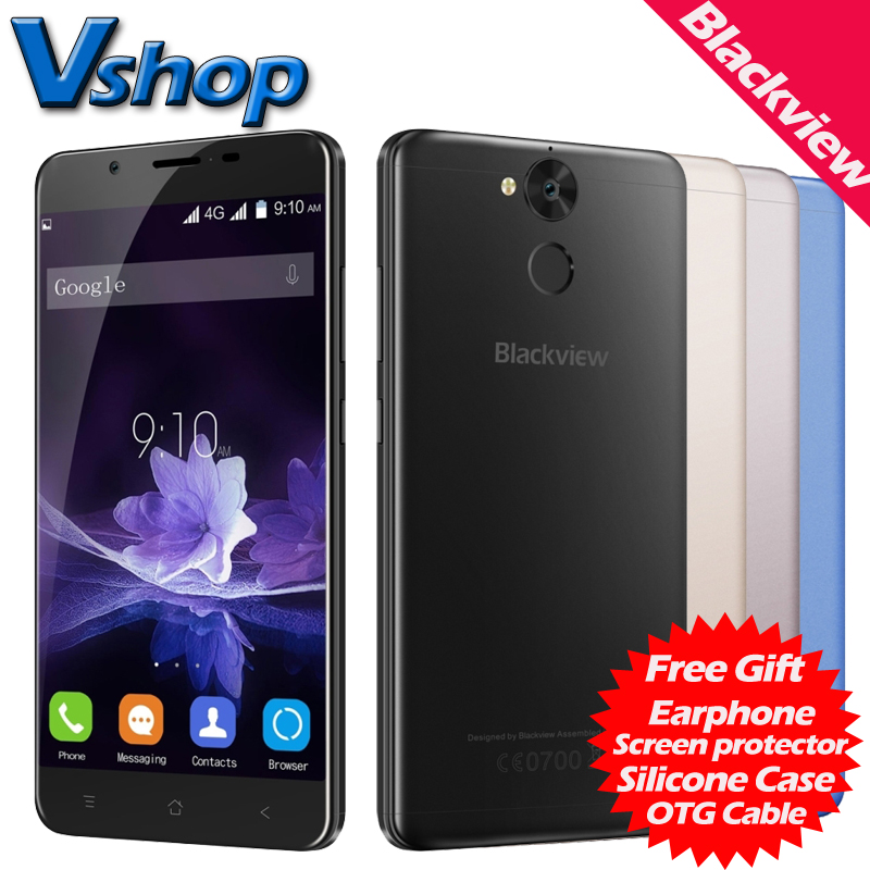Blackview P2 4G Mobile Phone Android 6.0 4GB RAM 64GB ROM Octa Core 6000mAh Battery 1080P 13.0MP Dual SIM 5.5 inch Cell  -  Vshop store