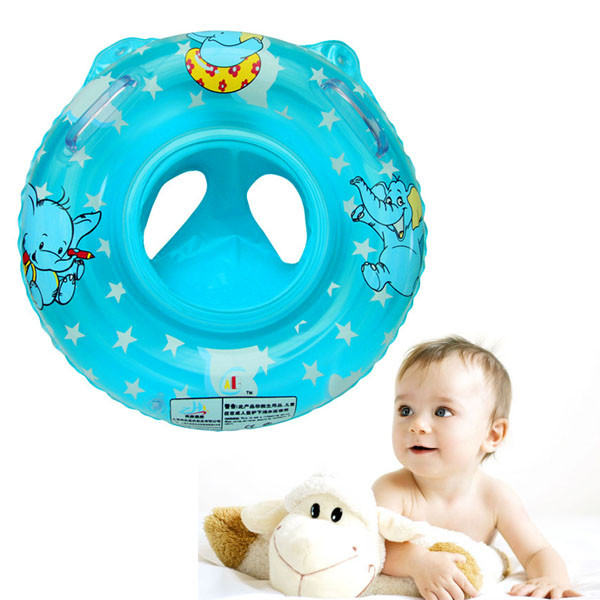 Soft Environmental Health PVC Inflatable Baby Child Swimming Seat Double Handle Thicken Float Ring Raft Chair Pool Swiming Toy(China (Mainland))