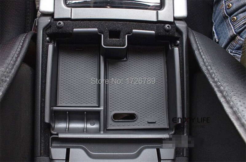 Car Armrest Box Central Secondary Storage Glove Phone Holder Container For Land Rover Range Rover Evoque 2009-2013 Accessories(China (Mainland))