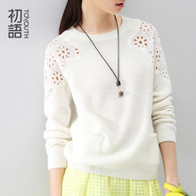 Toyouth Spring Autumn Hollow Out Women's 3 Colors Sweaters Knitted O-Neck Pullovers Crochet Sweaters Top High-End Clothing(China (Mainland))