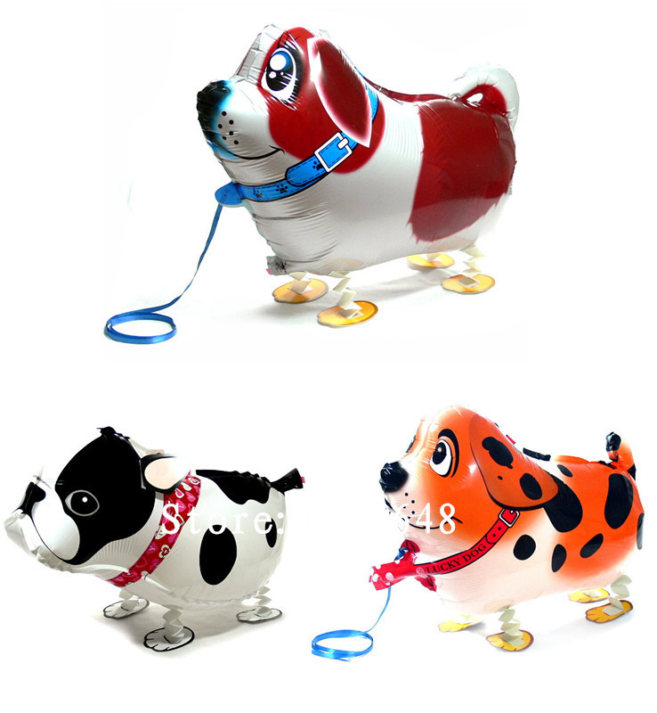 1 walking pet balloon,dalmatian dog animal baloon inflatable foil balloon party decoration