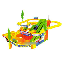 D412 Thomas the train speed racing car racing track toy car electric toys with music(China (Mainland))
