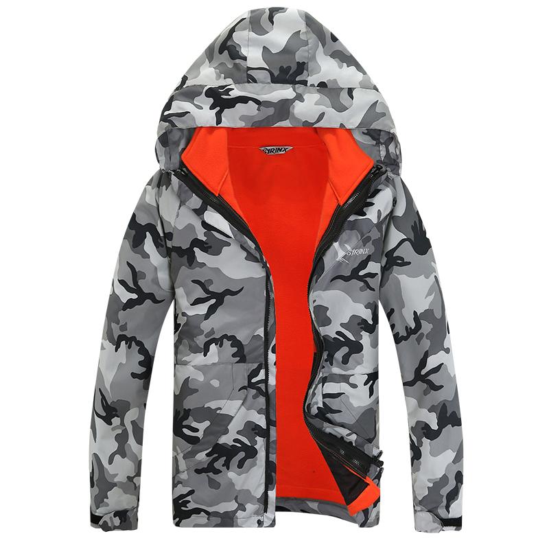 2016 Men Outdoor Winter Ski Soft Shell Sports Travel Camping Camouflage Windproof Waterproof Climbing Hunting Hiking Jacket(China (Mainland))